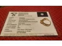 18ct Yellow Gold 2/5 Carat Diamond Ring