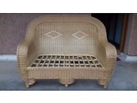 2 two seater wicker sofas