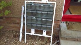 renault kangoo van rear metal storage unit with trays fits upto 2009