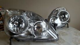 Genuine Headlights Headlamps for Honda Cr-V 2002-2006 1 Pair O/S & N/S refurbed with motors ( CRV )