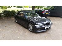 BMW E36 325I 2.5 auto Black Alpina Convertible 1 year MOT Sport Classic car px E30 E34 E38 E39 etc