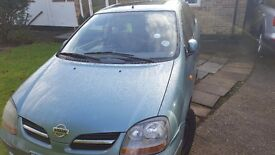 Nissan Almera Tino for sale:only 2 owners.