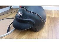 ACT leather Line open face helmet .. Harley .. In Tin