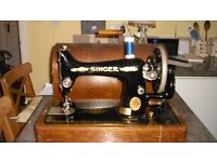 Singer Sewing Machine in case with key