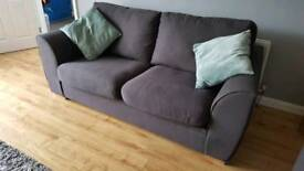 Sofa suite (3 seater, 2 seater and pouffe) viewings welcome