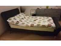 Made Orla smoky grey double bed, nearly new