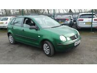 VW polo E 2003 1.2 petrol MOT 8th may 107k miles