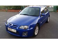 MG ZR 1.4 105 Plus 5 Door hatchback Blue Manual