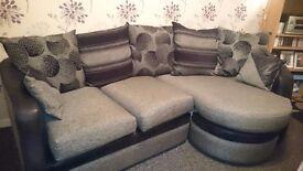 3 seater sofa grey/black -PRICE REDUCED