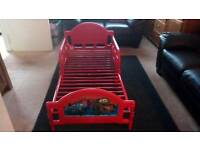 Child's Disney Cars 2 Red Toddler Bed