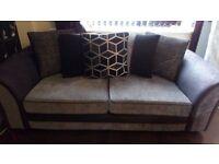 2 three seater luxuary sofas