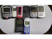 Old phones samsung. Nokia. MOTOROLA. BLACKBERRY