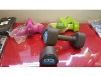 Escape Fitness Studio Hand Weights 1kg, 2kg, 3kg sold as pairs or set