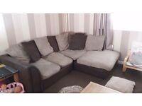 Corner sofa and 3 seater sofa