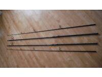 Two Daiwa Longbow DF 50mm 3.5lb carp fishing rods
