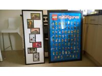 LEGO framed poster and pictures. One minifigures collection and one funny!