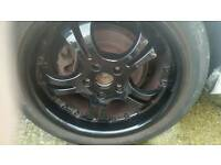 Black 17 inch alloy 5 stud wheels