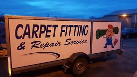 Custom made trailer for carpet fitting, furniture, market, advertise 13ft 6in x 5ft x 5ft