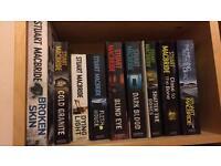 9 Stuart Macbride books. 'DS Logan' series.