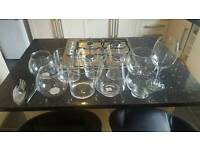 Glass ware for candy buffet and accessories