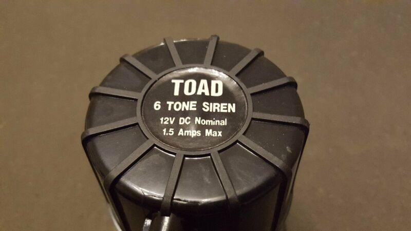 TOAD ALARM 6 SIX TONE SIREN CAR VAN MOTORHOME *PRICE REDUCED* for sale  Bishopbriggs, Glasgow