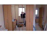 Large wardrobe with mirror