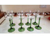70's Retro Tall Wine Glasses