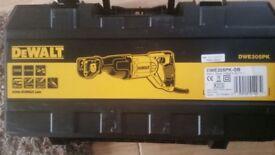 Brand New DeWalt DW305PK Reciprocating Sabre Saw 240V with a Dewalt Hard Case.