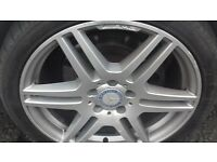 mercedes amg alloys 18 inch good condition £250