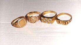 mens 4 9ct gold rings