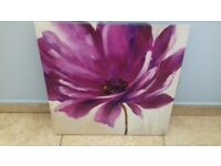 Canvas picture of purple flower