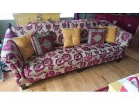 4 Seater Sofa, 2x Love seats and Foot Stool with Storage (Scatter Cushions included)