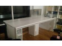 Huge white office desk