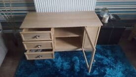 TV unit with storage & display cabinet