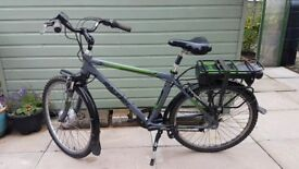gents electric bicycle.raleigh velo xc, good condition, 3 years old.