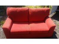 Terracotta double sofabed (free)