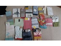 Bundle of Brand-new Tea-Towels , aprons and Oven gloves(John Lewis, Marks & Spencer etc)