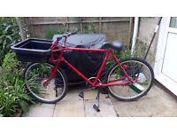 "Ex post-office bike. 3 speed, needs TLC but has been serviced. 21"" frame (53cm)"