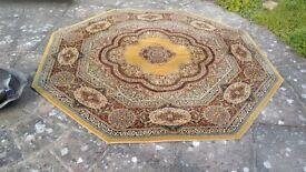 Super Keshan Pure new wool vintage octagonal rug