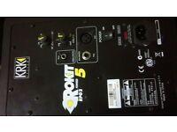 1x krk roxkit powered speaker