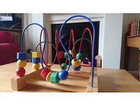Wooden beaded toy