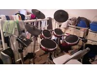 Alesis Crimson Mesh + Mapex double bass pedal and Roland AMP