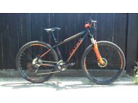 Carrera Sulcata mountain bike aluminium bicycle suntour suspension fork disc brakes