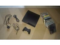 EXCELLENT CONDITION, Playstation PS3 Slim with Sony Controller, 12 GAMES BUNDLE