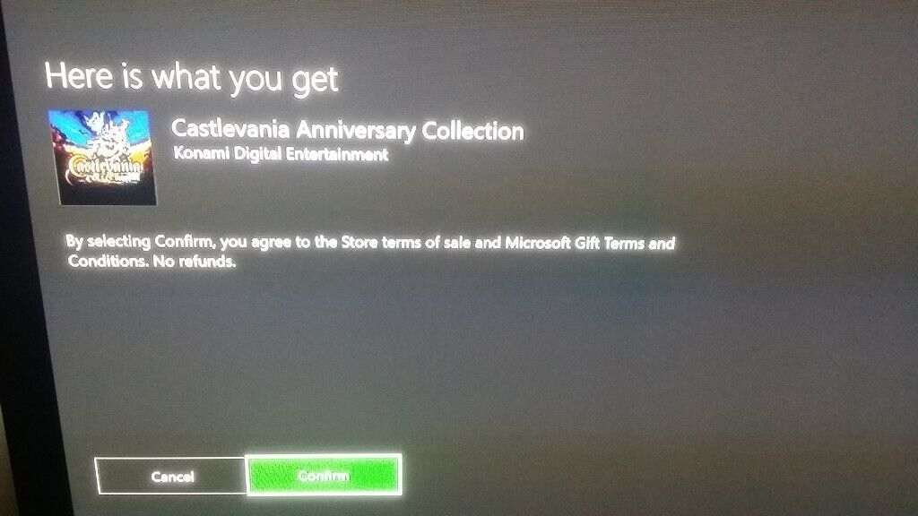 Castlevania Anniversary Collection Xbox One Code | in Kirkcaldy, Fife |  Gumtree