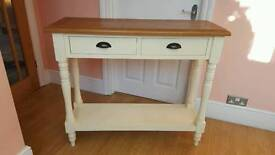 Lovely solid oak cargo sideboard / console table with drawers
