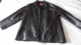 Mens Leather Jacket XXL