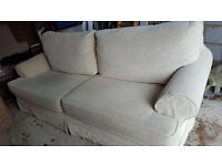 EXCELLENT CONDITION bespoke Chunky three seater sofa & matching armchair Rye