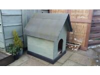 Small wooden dog kennel