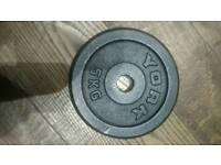 2x 5kg York weight plates